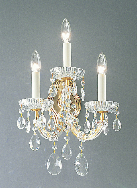 Classic Lighting 8129 OWG S Maria Theresa Traditional Crystal Wall Sconce in Olde World Gold (Imported from Italy)