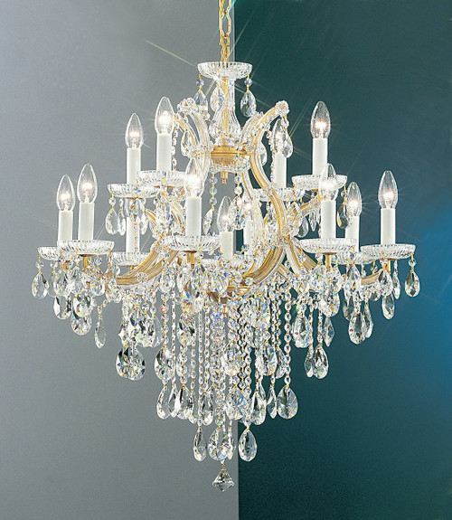 Classic Lighting 8124 OWG C Maria Theresa Traditional Crystal Chandelier in Olde World Gold (Imported from Italy)