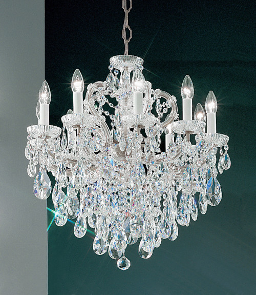 Classic Lighting 8120 CH S Maria Theresa Traditional Crystal Chandelier in Chrome (Imported from Italy)