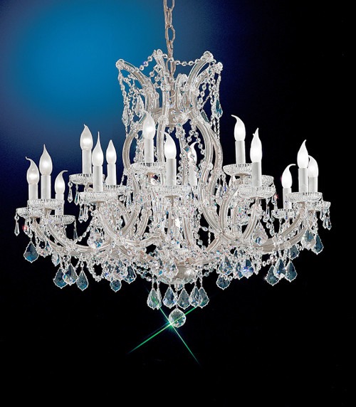 Classic Lighting 8118 CH C Maria Theresa Traditional Crystal Chandelier in Chrome (Imported from Italy)
