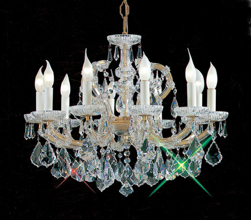 Classic Lighting 8110 OWG S Maria Theresa Traditional Crystal Chandelier in Olde World Gold (Imported from Italy)