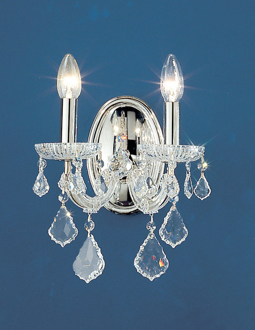 Classic Lighting 8102 CH SC Maria Theresa Traditional Crystal Wall Sconce in Chrome (Imported from Italy)