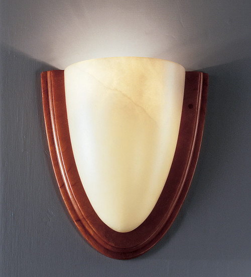Classic Lighting 7492 CRM Navarra Alabaster Wall Sconce in Cream (Imported from Spain)