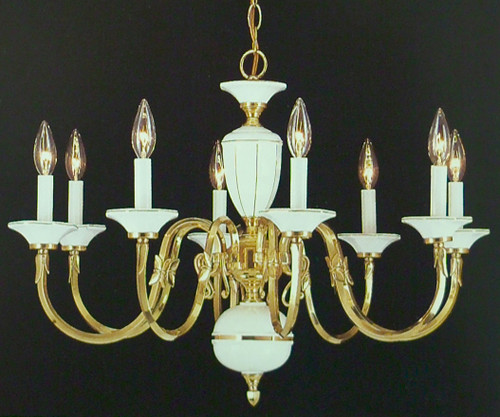 Classic Lighting 6828 Traditional Chandelier in Polished Brass