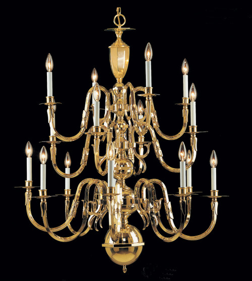 Classic Lighting 6823 Hampton Traditional Chandelier in Polished Brass