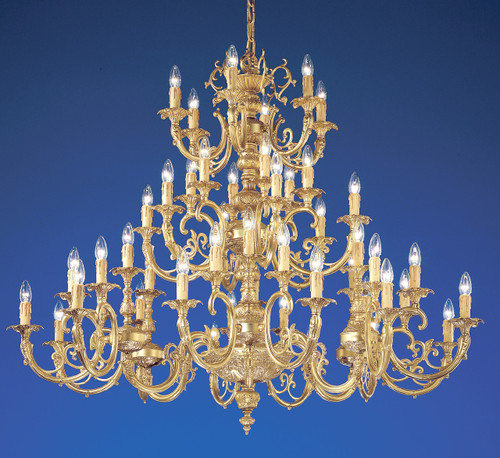 Classic Lighting 5748 SBB Princeton Cast Brass Chandelier in Satin Bronze/Brown Patina (Imported from Spain)