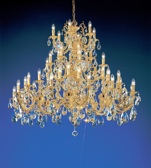 Classic Lighting 5748 G C Princeton Crystal/Cast Brass Chandelier in 24k Gold (Imported from Spain)