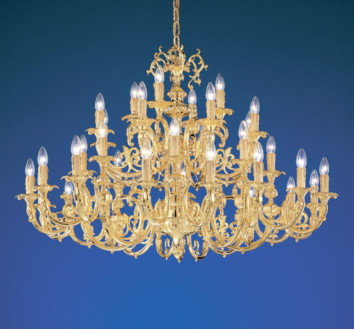 Classic Lighting 5736 G SC Princeton Crystal/Cast Brass Chandelier in 24k Gold (Imported from Spain)