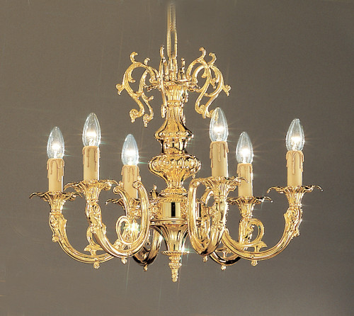 Classic Lighting 5706 G SC Princeton Crystal/Cast Brass Chandelier in 24k Gold (Imported from Spain)