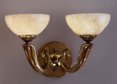 Classic Lighting 5662 ABZ Valencia Alabaster Wall Sconce in Antique Bronze (Imported from Spain)