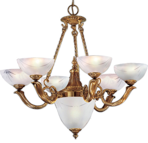 Classic Lighting 5657 ABZ Valencia Traditional Chandelier in Antique Bronze (Imported from Spain)