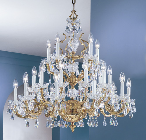 Classic Lighting 5535 OWB CGT Madrid Crystal/Cast Brass Chandelier in Olde World Bronze (Imported from Spain)