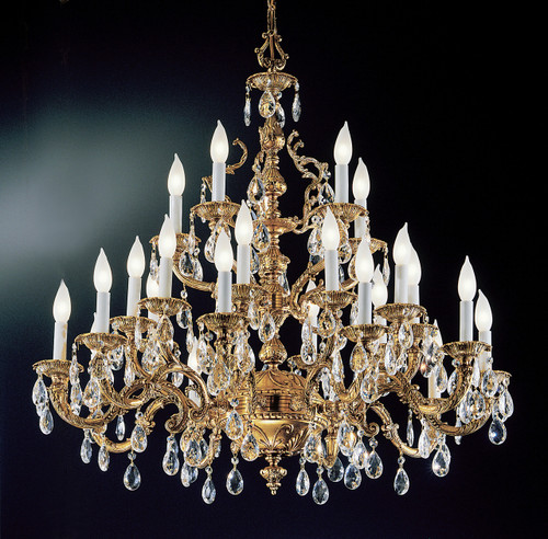 Classic Lighting 5525 OWB SC Barcelona Crystal/Cast Brass Chandelier in Olde World Bronze (Imported from Spain)