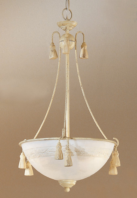 Classic Lighting 4023 I Rope and Tassel Traditional Pendant in Ivory (Imported from Italy)