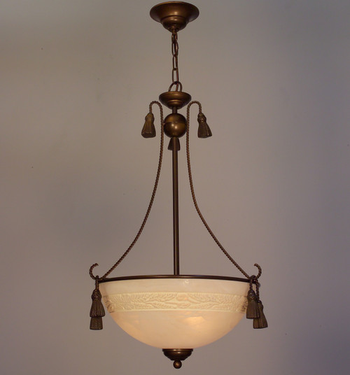 Classic Lighting 4023 BZ Rope and Tassel Traditional Pendant in Bronze (Imported from Italy)