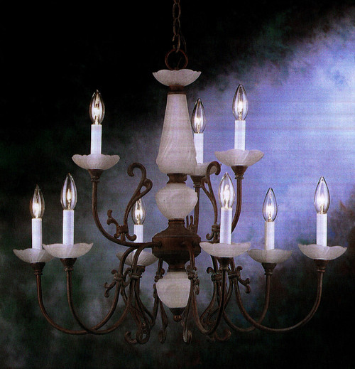 Classic Lighting 3069 ORB Bloomington Traditional Chandelier in Oil-Rubbed Bronze