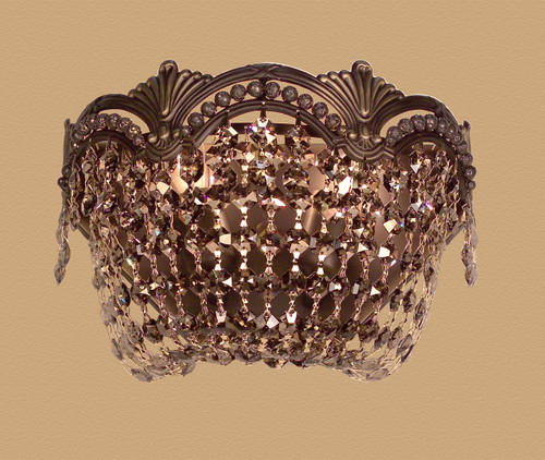 Classic Lighting 1850 RB SGT Regency II Crystal Wall Sconce in Roman Bronze (Imported from Spain)