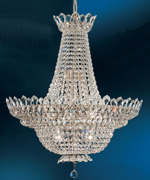 Classic Lighting 1686 CP Tiara Crystal Chandelier in Chrome (Imported from Italy)