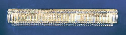 Classic Lighting 1626 G S Ambassador Crystal Vanity Light in 24k Gold