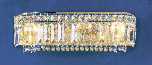 Classic Lighting 1624 G S Ambassador Crystal Vanity Light in 24k Gold