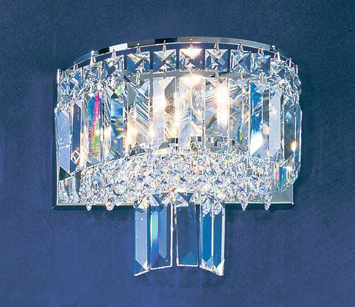 Classic Lighting 1624 CH S Ambassador Crystal Vanity Light in Chrome
