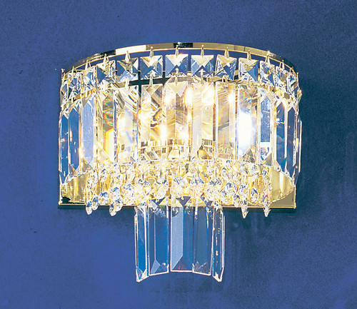 Classic Lighting 1623 G S Ambassador Crystal Wall Sconce in 24k Gold
