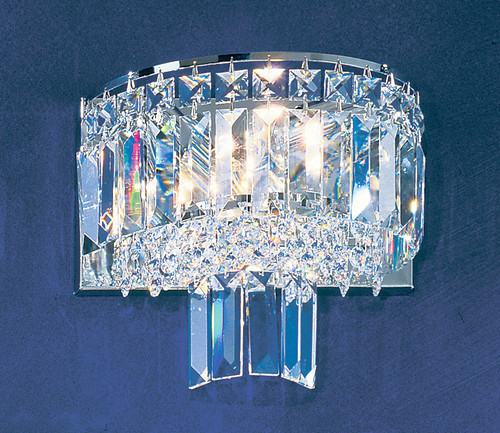 Classic Lighting 1623 CH S Ambassador Crystal Wall Sconce in Chrome