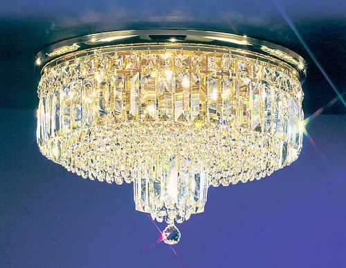 Classic Lighting 1622 G S Ambassador Crystal Flushmount in 24k Gold