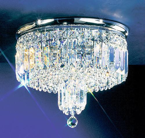 Classic Lighting 1621 G S Ambassador Crystal Flushmount in 24k Gold