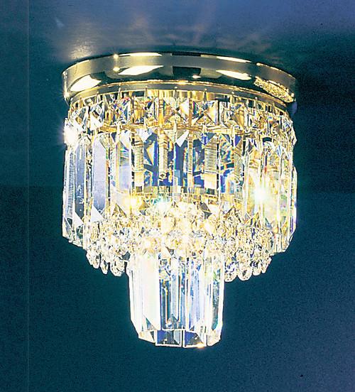 Classic Lighting 1620 G S Ambassador Crystal Flushmount in 24k Gold