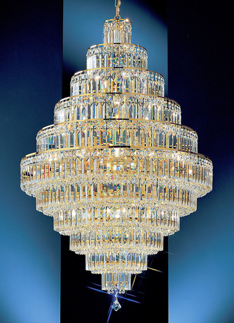 Classic Lighting 1605 G CP Ambassador Crystal Chandelier in 24k Gold