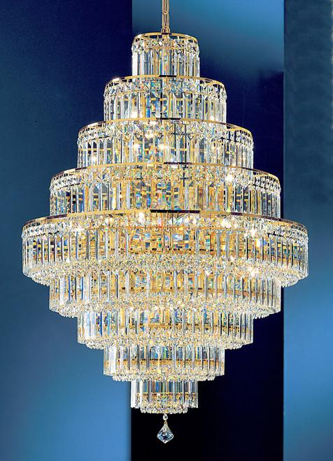Classic Lighting 1604 G CP Ambassador Crystal Chandelier in 24k Gold
