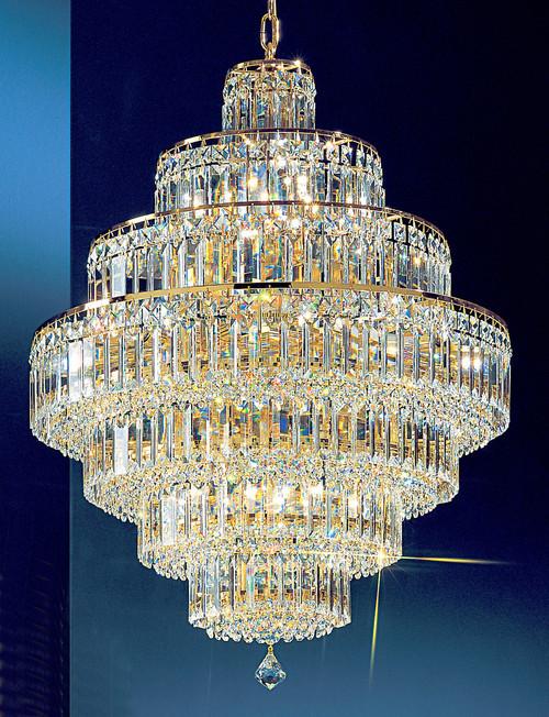 Classic Lighting 1603 G CP Ambassador Crystal Chandelier in 24k Gold