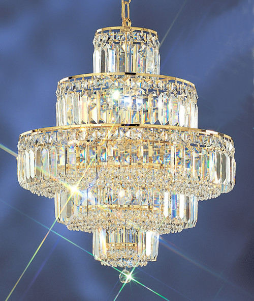 Classic Lighting 1601 G CP Ambassador Crystal Chandelier in 24k Gold