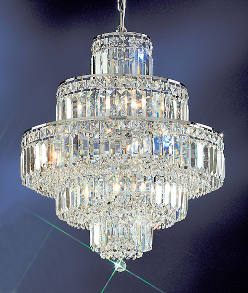 Classic Lighting 1601 CH S Ambassador Crystal Chandelier in Chrome