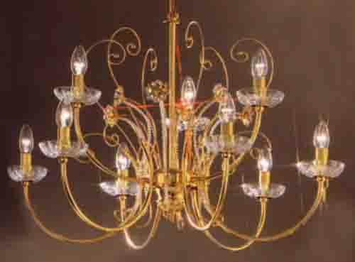 Classic Lighting 1519 G HEX Belleair Traditional Chandelier in 24k Gold (Imported from Italy)