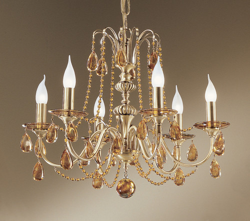 Classic Lighting 1226 FBR OTS Brussels Crystal Chandelier in Flemish Bronze (Imported from Spain)
