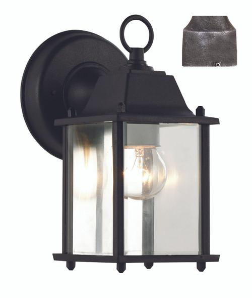 "Patrician 8"" Outdoor Swedish Iron Traditional Wall Lantern"