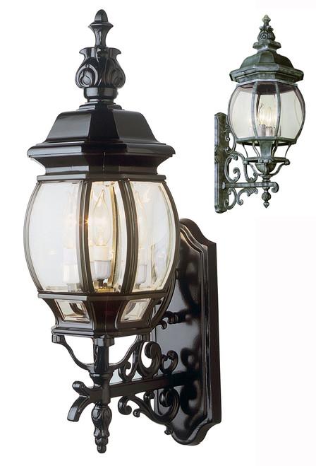 "Francisco 25"" Outdoor Swedish Iron Tuscan Wall Lantern"