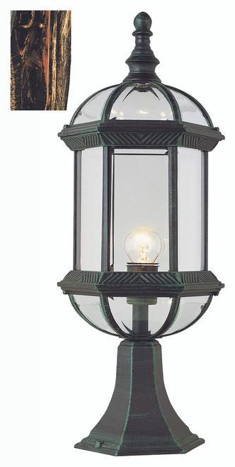 "Wentworth 21"" Outdoor Black Copper Traditional Postmount Lantern"