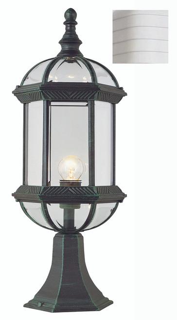 "Wentworth 21"" Outdoor White Traditional Postmount Lantern"