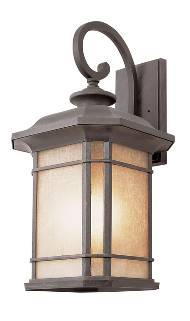 "San Miguel 13.5"" Outdoor Rust Mission/Craftsman Postmount Lantern"