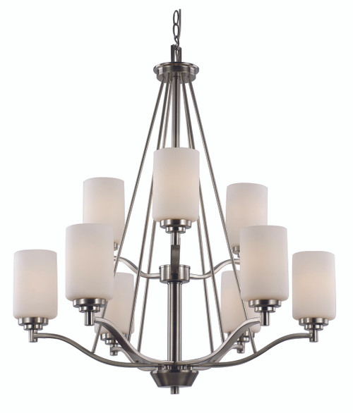 """Mod Pod Collection 29"""" Indoor Rubbed Oil Bronze Modern Chandelier"""