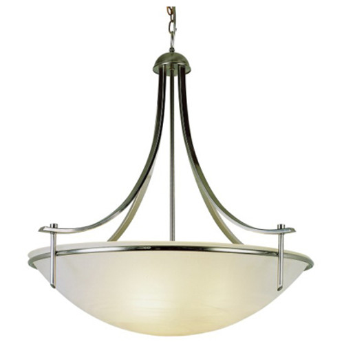 """Vitalian Vitalian 30"""" Brushed Nickel Contemporary Chandelier with Multiple Glass Choices for Shades"""