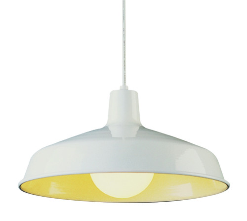 "Sherman 15.5"" Indoor White Industrial Pendant"