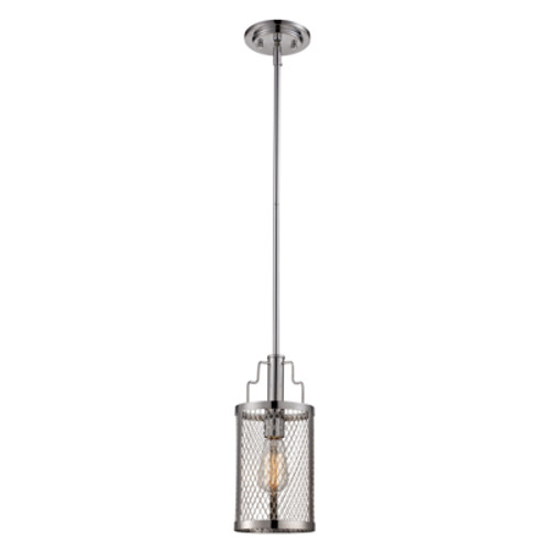 "Trans Globe Lighting 10381 PC 6"" Indoor Polished Chrome Industrial Pendant"