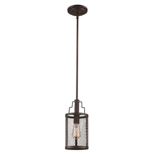 "Trans Globe Lighting 10381 ROB 6"" Indoor Rubbed Oil Bronze Industrial  Pendant"