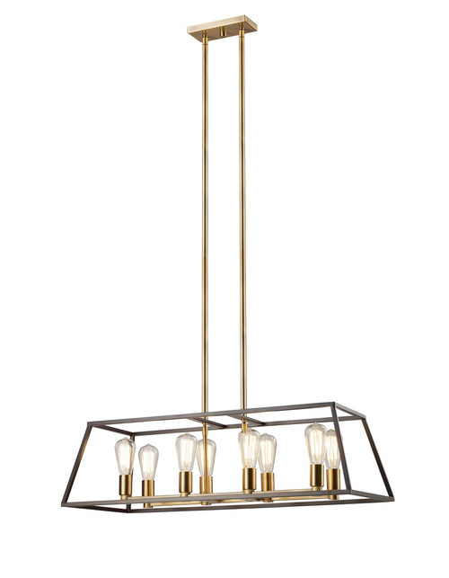 "Trans Globe Lighting 10468 ROB 35"" Long Indoor Rubbed Oil Bronze Transitional Pendant"