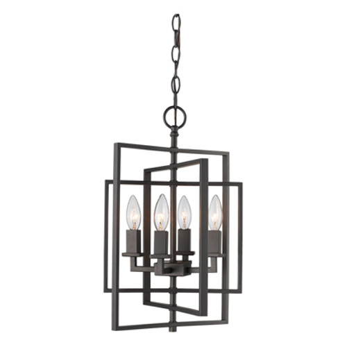 "Trans Globe Lighting 10594 ROB 14"" Indoor Rubbed Oil Bronze Industrial Pendant"