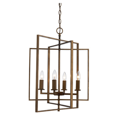 "Trans Globe Lighting 10595 AG 20"" Indoor Antique Gold Industrial Pendant"